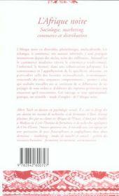 L'Afrique noire ; sociologie, marketing, commerce et distribution - 4ème de couverture - Format classique