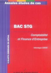 Bac Stg Comptabilite Et Finance D'Entreprise - Intérieur - Format classique