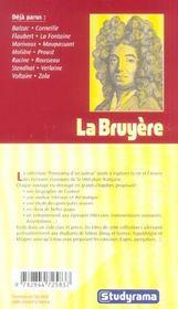 La Bruyere - 4ème de couverture - Format classique