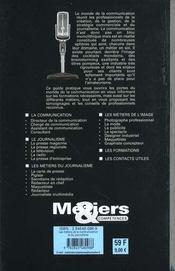 Les Métiers De La Communication Et Du Journalisme - 4ème de couverture - Format classique