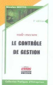 Le contrôle de gestion - Intérieur - Format classique
