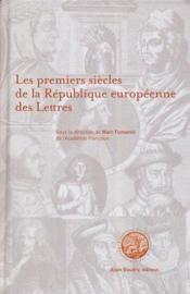 Les premiers siecles de la république europeéenne des lettres - Couverture - Format classique