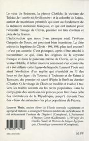Clovis - 4ème de couverture - Format classique