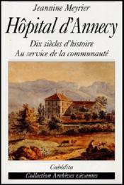 Hopital D'Annecy - Couverture - Format classique