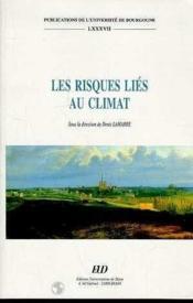 Les Risques Lies Au Climat - Couverture - Format classique
