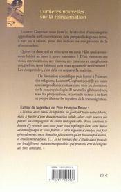 Lumieres Nouvelles Sur La Reincarnation - 4ème de couverture - Format classique