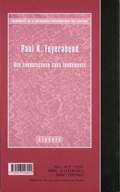 Janvier 2000 - 4ème de couverture - Format classique
