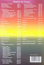 Catalogue Dallay Timbres De France 2005 06 - 4ème de couverture - Format classique