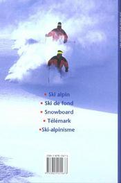 Tout Sur Un Sport ; Le Ski - 4ème de couverture - Format classique