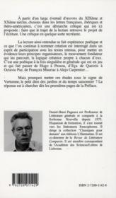 Sous Le Signe De Vertumne : Experience Poetique Et Creation Litteraire - 4ème de couverture - Format classique