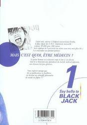 Say hello to black jack t.1 - 4ème de couverture - Format classique