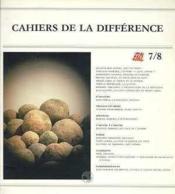 Cahiers De La Differences N 7-8 - Couverture - Format classique