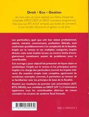 L'Imposition Des Revenus Et La Fiscalite Des Particuliers - 4ème de couverture - Format classique