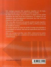 Tests psychotechniques et aptitude numérique ; ifsi ifas ifap, écoles de travailleurs sociaux - 4ème de couverture - Format classique