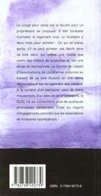 Conges Ventes ; La Valse Des Locataires - 4ème de couverture - Format classique