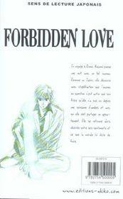 Forbidden Love T.1 - 4ème de couverture - Format classique