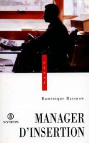 Manager D'Insertion - Couverture - Format classique