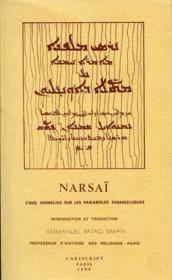 Narsaï ; cinq homélies sur les paraboles évangeliques - Couverture - Format classique