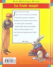 La vraie magie - 4ème de couverture - Format classique