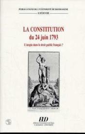 La Constitution Du 24 Juin 1793 - Couverture - Format classique