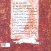 Le chat dans le texte - 4ème de couverture - Format classique
