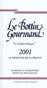 Le Bottin Gourmand 2001 - Intérieur - Format classique