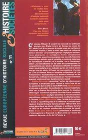 Revue Europeenne D'Histoire Sociale N.11 ; Politiques Sociales En Perspectives Transatlantiques ; Etats-Unis-Europe (Xxe Siècle) - 4ème de couverture - Format classique