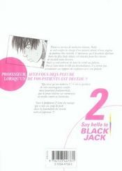Say hello to black jack t.2 - 4ème de couverture - Format classique