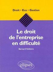 Le Droit De L'Entreprise En Difficulte - Intérieur - Format classique