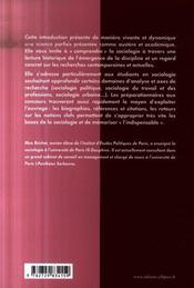 Introduction à la sociologie ; des pères fondateurs aux sociologies contemporaines - 4ème de couverture - Format classique