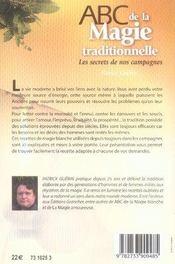 Abc de la magie traditionnelle ; les secrets de nos campagnes - 4ème de couverture - Format classique