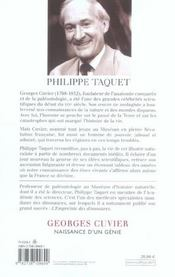Georges Cuvier - 4ème de couverture - Format classique