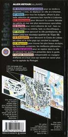 Lisbonne (Portugal) - 4ème de couverture - Format classique