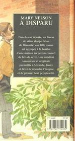 Mary nelson a disparu - 4ème de couverture - Format classique