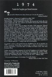 1974 - 4ème de couverture - Format classique