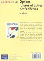 Options, futures et autres actifs derives ; corriges - 4ème de couverture - Format classique