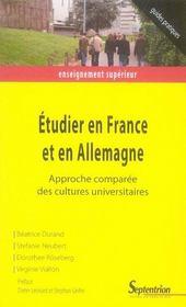 Etudier En France Et En Allemagne - Intérieur - Format classique