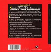 Conversation Entretien Avec Jury Concours Fp - 4ème de couverture - Format classique