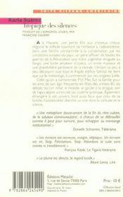 Tropique Des Silences - 4ème de couverture - Format classique