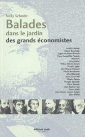 Balades Dans Le Jardin De Grands Economistes - Couverture - Format classique