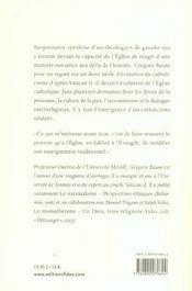 Etonnante eglise ; l'emergence du catholicisme solidaire - 4ème de couverture - Format classique