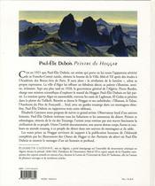Paul-élie dubois, peintre du hoggar - 4ème de couverture - Format classique