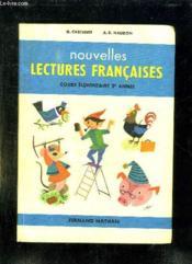 NOUVELLES LECTURES FRANCAISES COURS ELEMANTAIRE 2em ANNEE CLASSE DE 9e. - Couverture - Format classique