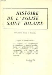 Histoire De L'Eglise Saint Hilaire - Couverture - Format classique