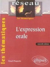 L'expression orale - Intérieur - Format classique