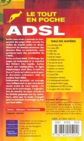 Adsl tep - 4ème de couverture - Format classique