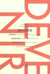 Devenir Volume 15 N.3 ; 2003 - Intérieur - Format classique