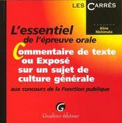 Commentaire Ou Expose Concours Fp - Intérieur - Format classique