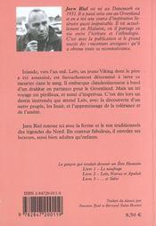 Le garcon qui voulait devenir un etre humain t.2 ; leiv narua et apuluk - 4ème de couverture - Format classique