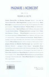 Passer a l'acte - 4ème de couverture - Format classique